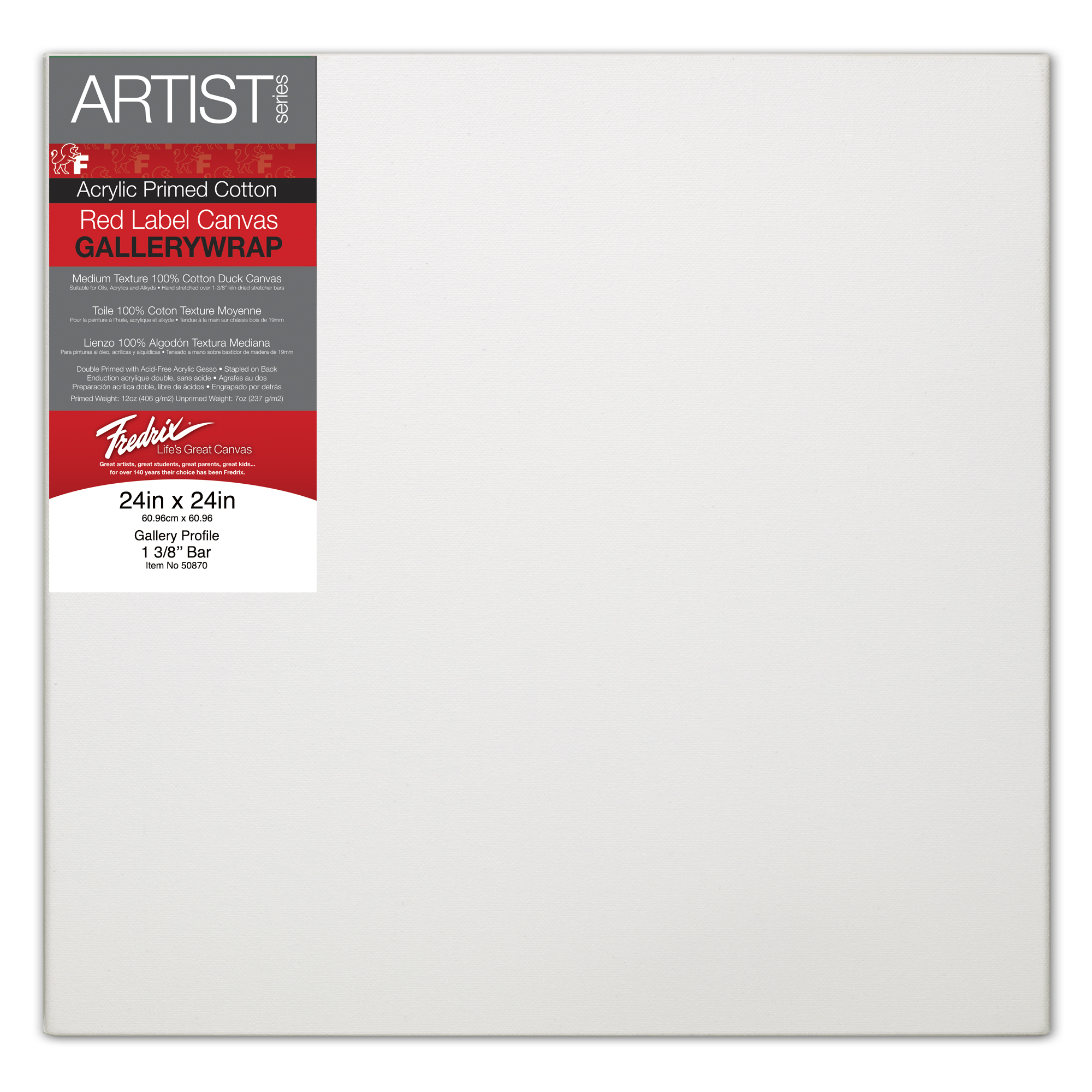 24 by 36-Inch Fredrix 5542 Stretched Watercolor Canvas