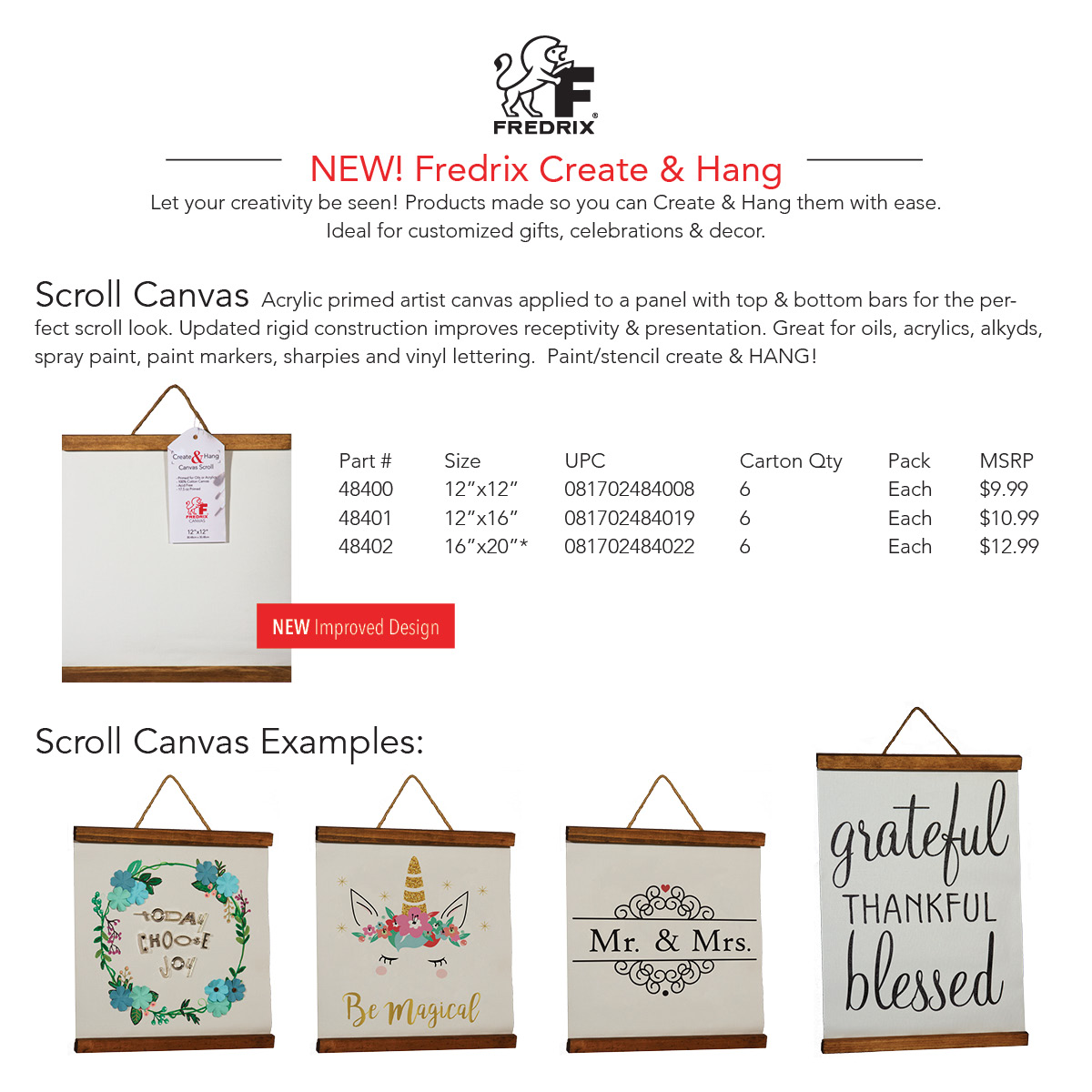 Create & Hang Product Line Launch! – Fredrix Artist Canvas